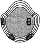 ピン移動式かつら ストライプタイプ