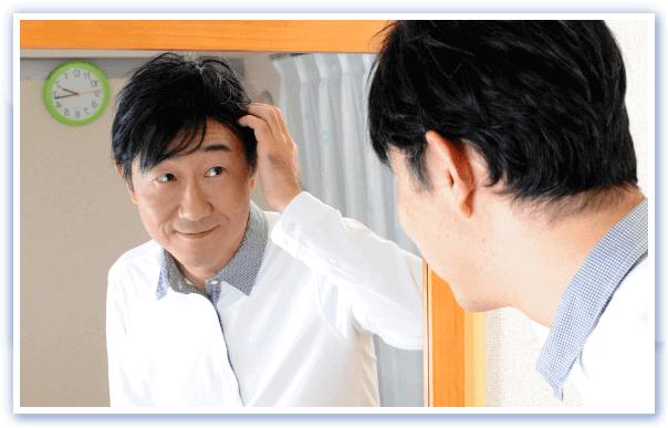 額の生え際を見せる髪型にお薦めカツラ