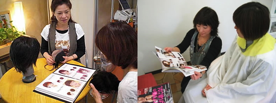 お客様をカウンセリングするのは、プロの理美容師