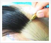 総手植え植毛カツラ