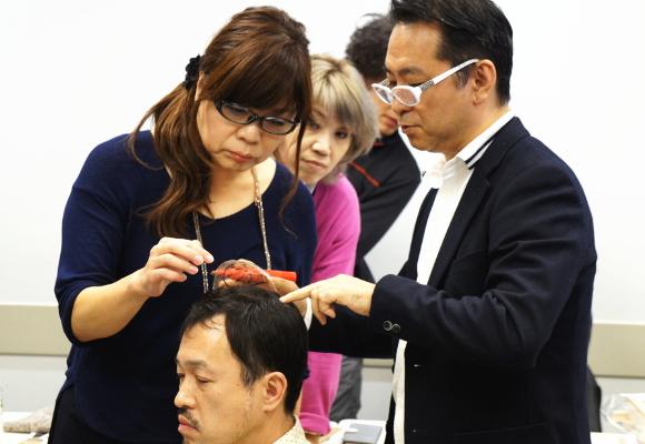 カツラ講習会2015_10
