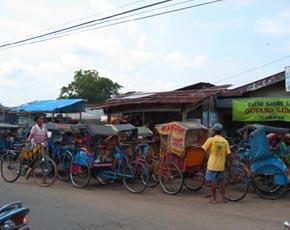 かつら工場訪問記 インドネシアの街風景1