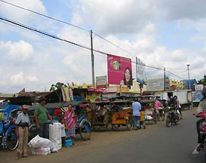 かつら工場訪問記 インドネシアの街風景2