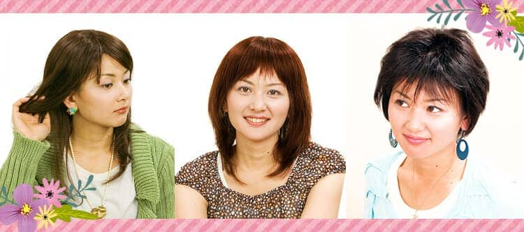 女性用フルかつら髪型ラインナップ例