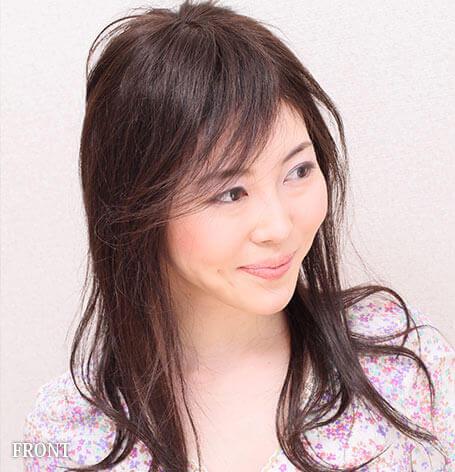 医療用ウィッグ髪型例:ロングウェーブスタイル