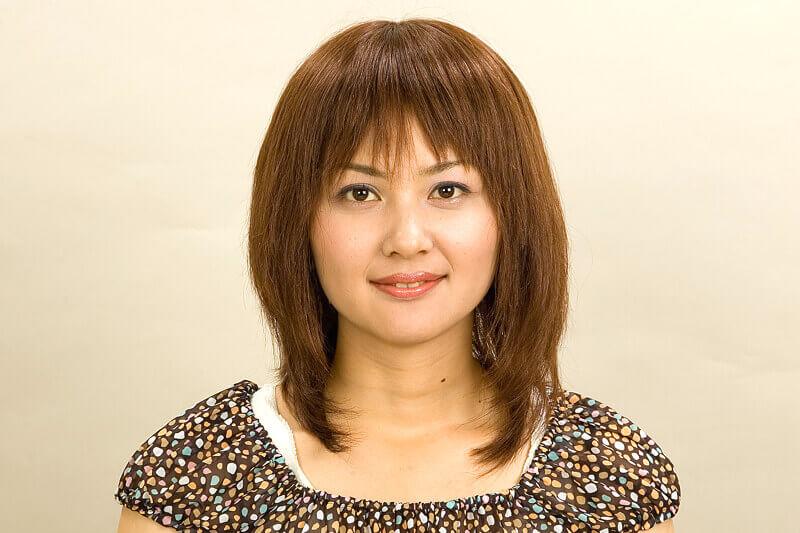医療用かつら・女性ウィッグ髪型例お嬢様風ミディアムロング