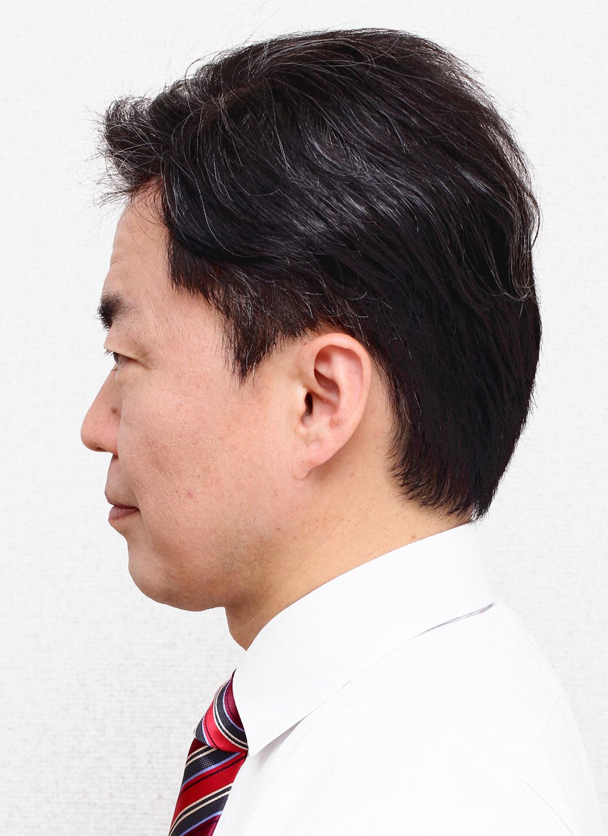 カツラ装着モデル男性髪型001