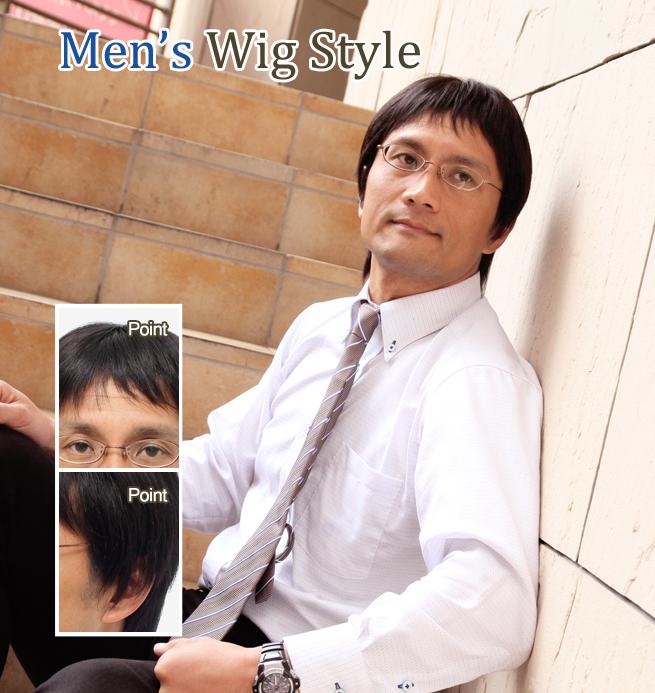 全カツラ装着 30代男性 U型壮年性脱毛