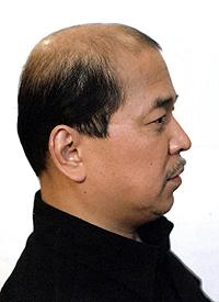 男性かつら髪型009装着前側面画像