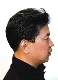男性かつら髪型009横から画像