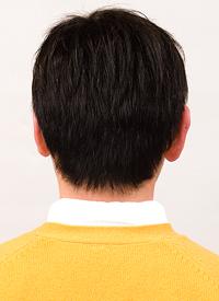 男性かつら髪型013後ろ画像