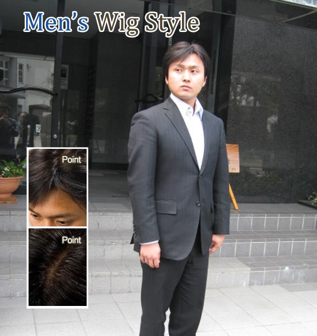 全カツラ装着 20代男性 短髪・坊主頭