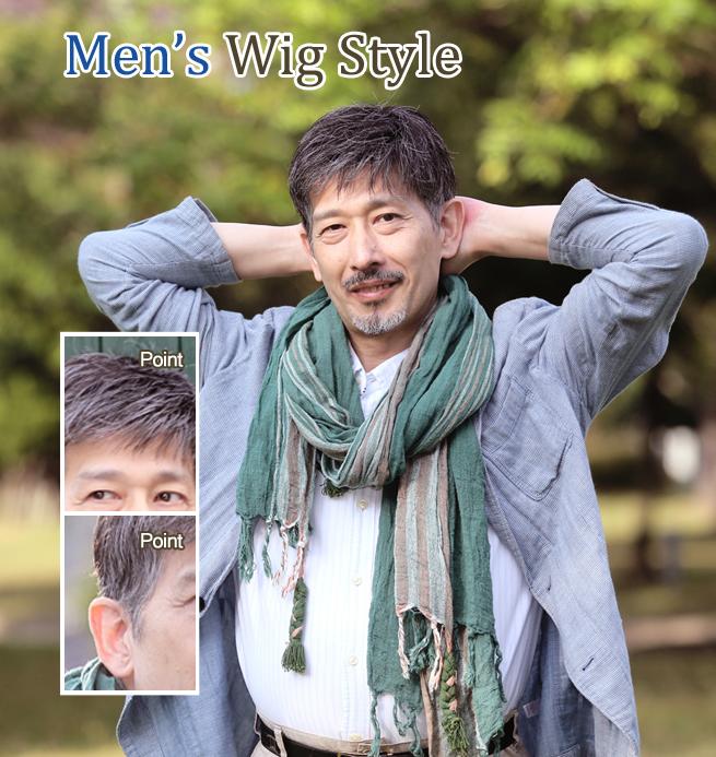 部分カツラ装着 50代男性 U型壮年性脱毛