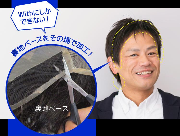 日本初の特許技術でカスタマイズ可能